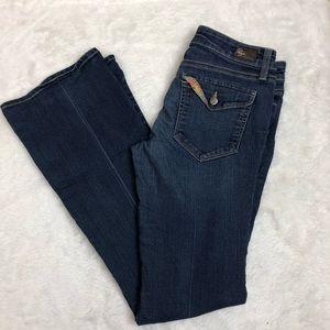 Paige canyon boot petite flap pocket blue jeans